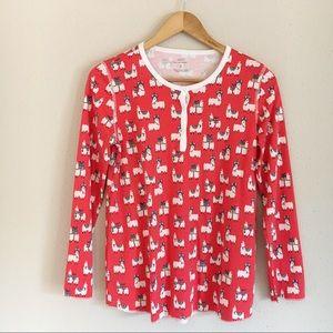 Roller Rabbit Fa-La-La Llamas Pajama Top